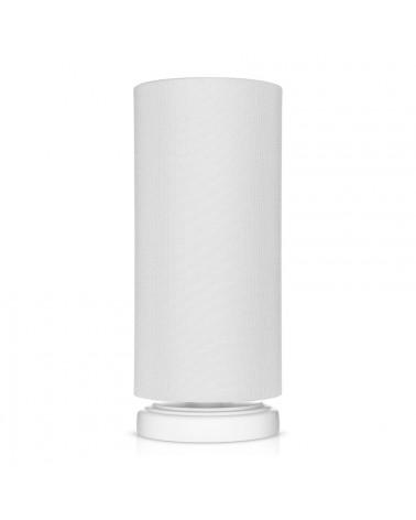 Lampe de chevet gris clair forme tube