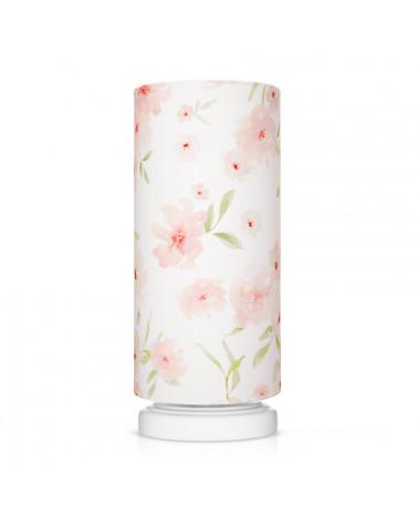 Lampe de chevet enfant motif fleurs
