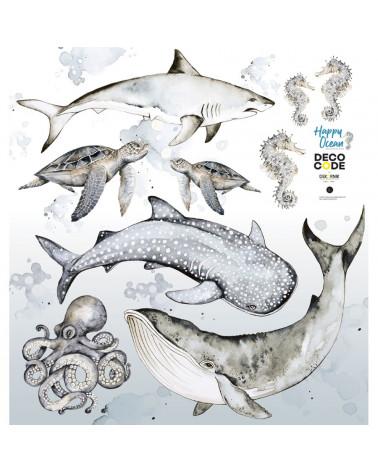 Stickers muraux enfant poissons des océans