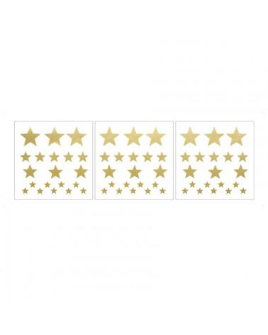 Stickers étoiles dorées, 60 pièces