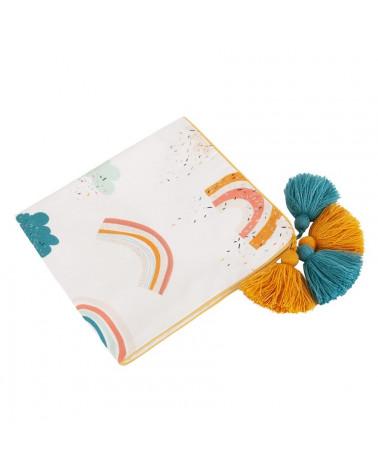 couverture légère, lange en bambou motif arc-en-ciel