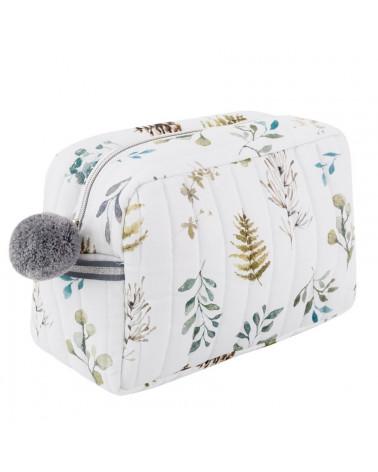 Trousse de toilette motif forêt feuille