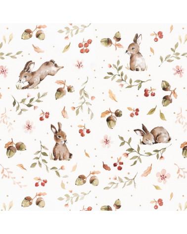 papier peint lapins joyeux
