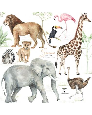 Stickers enfant animaux de la savane