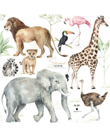 Stickers enfant animaux de la savane