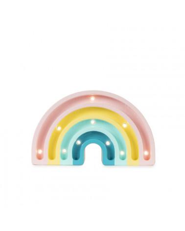 Mini veilleuse en bois arc-en-ciel, pastel