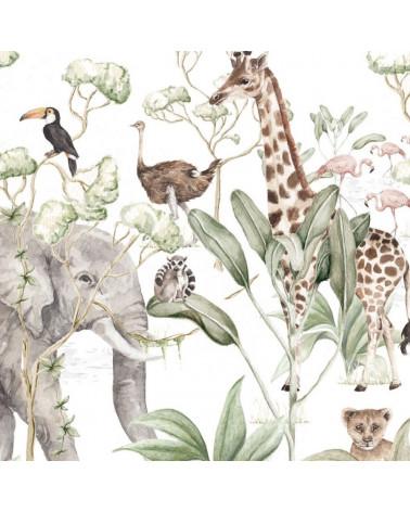 papier peint animaux de la savane