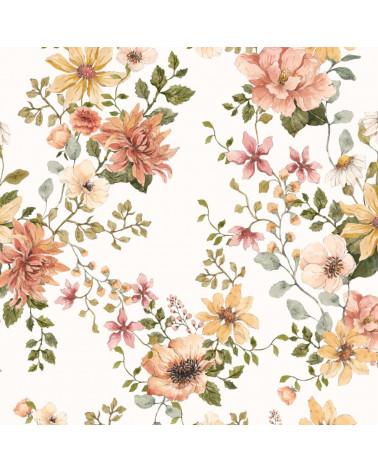 papier peint fleurs , jardin anglais