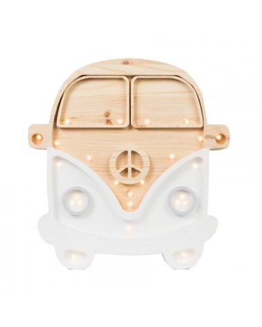 lampe veilleuse en bois combi van blanc
