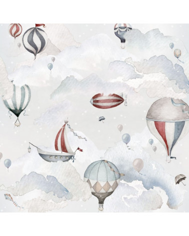 Papier peint montgolfières, aventures célestes