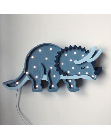 Lampe veilleuse en bois tricératops