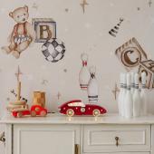 Nouveau ! Voici un nouveau modèle de veilleuse en forme de voiture de course ! Elle  est disponible en deux coloris : rouge et rétro bleu :-) Ce joli papier peint est un modèle Ourson Théodore et ses jouets - fond beige:-)  Photo : @thebirthoflove   #decochambrebebe #decoenfant #chambreenfant #chambrebebe #lampeenfant #veilleuse #voiture #lampebebe #bebe #cadeaunaissance #cadeaudenaissance #futuremaman #petitbisonboutique #littlelights  #rouge #lampe #instadeco #papierpeintenfant #dekornik