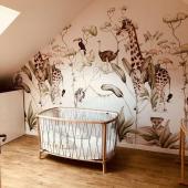 Quelle jolie chambre bébé ! Ce modèle de papier peint Animaux de la Savane est l'un de vos préférés ! Merci,   #kidsroom #babyroom #decorationinterieur #decorforkids #kidsdecor #decochambrebebe #chambrebebe #chambreenfant #papierpeint #papierpeintenfant #animaux #jungle #savane #futuremaman #nature #decomurale #bebe #papierpeintbebe #dekornik #petibisonboutique #bébé2021 #tapisserieenfant