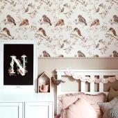 Papier peint oiseaux sur ciel blanc gris :-) Posé à la mi-hauteur du mur pour créer une jolie ambiance tout en douceur.  Photo : @paulinarygiert   #decochambrebebe #chambrebebe #chambreenfant #chambrebebefille #papierpeint #papierpeintenfant #oiseaux #futuremaman #nature #decomurale #bebe #oiseaux #papierpeintbebe #dekornik #petibisonboutique #romantique #oiseaux #kidsroom #babyroom #decorationinterieur #decorforkids #kidsdecor