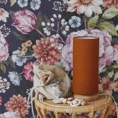 Nouvelle lampe de chevet tube avec abat-jour en lin couleur caramel. Modèle de papier peint : Bouquet de fleurs- tons violets :-)   #decochambrebebe #chambrebebe #chambreenfant #chambrebebefille #papierpeint #papierpeintenfant #fleurs #futuremaman #nature #decomurale #bebe #papierpeintbebe #dekornik #petibisonboutique #romantique #decoration #lampedechevet #lampsandcompany #chambrebébé #kidsroom #babyroom #decorationinterieur #decorforkids #kidsdecor